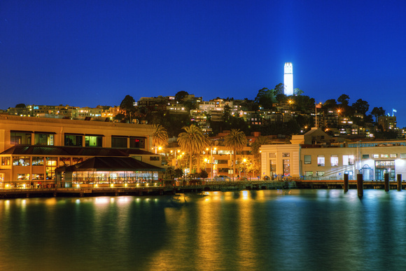 Coit Tower from bay